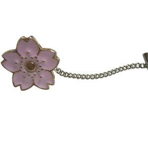 Pink Cherry Blossom Flower Tie Tack